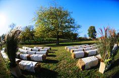 straw bale seating photo by Adele Redding