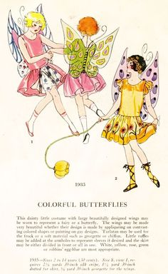 1920's Masquerade Patterns - For the Kids - Colorful Butterflies