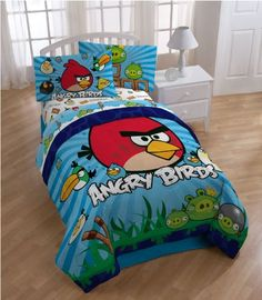 I am glad Leann is over her Angry Birds stage! I could not sleep in a bed that looked like this!