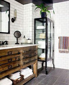 Black and White Subway Tile Bathroom . 30 Amazing Black and White Subway Tile Bathroom . Black and White Tile Bathroom Decorating Ideas New Mid Century Design Jobs, Design Ideas, Design Trends, Design Inspiration, Design Concepts, Style Deco, Bathroom Inspiration, Bathroom Ideas, Basement Bathroom