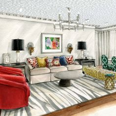 Living Room by Julia Smolkina