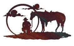 Cowboy Metal Wall Art: The Reflections of a Cowboy