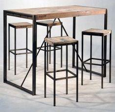 visuel table de bar industrielle
