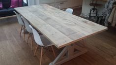 Union Driftwood Dove & Grey Dining Table Wooden Dining table