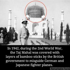 Tajmahal saved from Air Attack. Some Amazing Facts, Interesting Facts About World, Unbelievable Facts, Interesting History, Amazing Pics, Incredible India, Awesome, Gernal Knowledge, General Knowledge Facts
