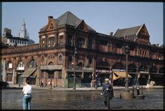 The old Fulton Market, Lower East Side of Manhattan, 1941. Charles W. Cushman Photograph Collection, Indiana University.