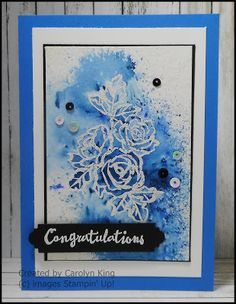 Brusho, Petal Passion stamp set, Petals and More Thinlits Diy Birthday, Birthday Cards, Happy Birthday Gorgeous, Brusho, Palette, Bird Cards, Card Making Techniques, Congratulations Card, Flower Cards