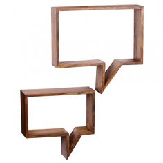 FineBuy Wall shelves Solid wood Sheesham 50 x 49 x 13 cm Wall Shelf set of 2 Country Style Wooden Shelves, Wall Shelves, Mumbai, Floating Shelves Bedroom, At Home Store, Tallit, Country Style, Wands, Dekoration