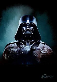 Darth Vader Star Wars Painting - Darth Vader Star Wars Fine Art Print