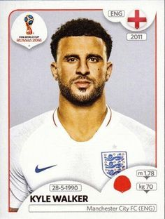 Panini Stickers Panini Football Sticker Albums FIFA World Cup Russia 2018 sticker Kyle Walker - England, FIFA World Cup Russia 2018 2018 ref. England Football Players, England National Football Team, National Football Teams, Sport Football, Steven Gerrard, Manchester Fc, England World Cup 2018, Premier League, Soccer Aid