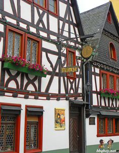 We love the buildings in Germany. This is Bacharach, one of our favorite towns:  http://bbqboy.net/guide-on-bacharach-our-favorite-german-town-and-highlights-of-the-rhine/  #bacharach #germany