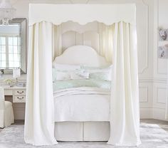 Monique Lhuillier Full Canopy Bed | Pottery Barn Kids I want this for my daughter but it won't fit in her bedroom at this point.... Hopefully we will be moving SOON!!!!!!!!