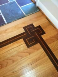 wood flooring with inlay | ... Space With New Beautiful Wood Floor Medallions by Royal Wood Floors