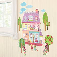 Play house wall decal from The Company Store (Kids) $22!  Love it!