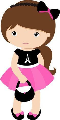 View all images at PNG folder Girl Cartoon, Cute Cartoon, Kawaii Cross Stitch, Paris Birthday Parties, Clip Art, Cute Images, Cute Characters, Cute Dolls, Cute Drawings