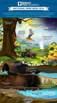 2014 National Park Week Infographic. Go Wild!