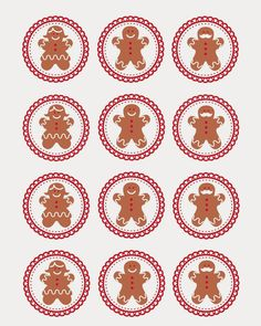 FREE Gingerbread Men Cupcake Topper {Printable}