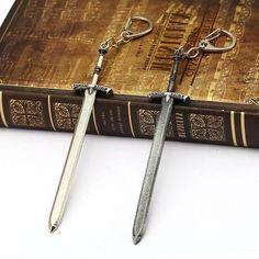 RPG Sword Keyring Elder Scrolls Skyrim, Elder Scrolls Online, Sword, Arrow Necklace, Superhero, Jewelry, Rpg, Jewlery, Jewels
