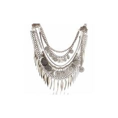 Multilayer Silver Coin Geometric Necklace ($8.12) via Polyvore featuring jewelry, necklaces, as picture, multi layered necklace, coin necklace, vintage coin necklace, coin jewelry and silver jewelry