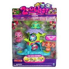 Zoobles Exclusive Triplet Playset Doelee #407 Mr. Crumb #408 Prancie #409 by Spin Master International. $8.69. For 4 yrs. & up. Cute playset for children 4 yrs. & up