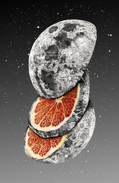 """Lunar Fruit"" Art Print by J.P Ormiston on Society6. I LOVE GRAPEFRUIT"
