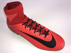 SR4U Black Reflective Soccer Laces on Nike Mercurial Veloce 3 DF Fire and Ice Pack