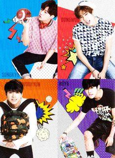 Sunggyu, Dongwoo, Woohyun and Hoya ❤