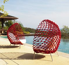 Dragnet Chairs in Red.