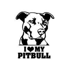 Pit bull car decal// I love my pit bull // dog by ValleyPress