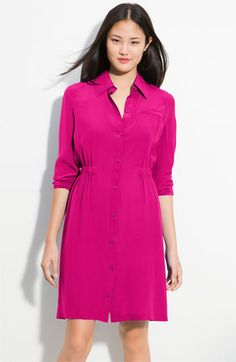 Cinch Waist Shirtdress
