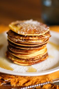 Gluten free pancakes made with coconut flour, brown rice flour, pineapple yogurt and coconut milk for a pina colada treat! Brunch Recipes, Breakfast Recipes, Dessert Recipes, Pancake Recipes, Breakfast Options, Gf Recipes, Gluten Free Breakfasts, Gluten Free Desserts, Pina Colada