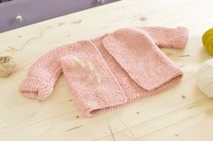 veste-tricot-bebe-4 Baby Vest, Knitting For Kids, Fur Coat, Pullover, Sewing, Sweaters, Jackets, Tops, Cardigan Rose