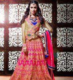title_Shraddha Kapoor Golden Pink Lehenga_T-631-523