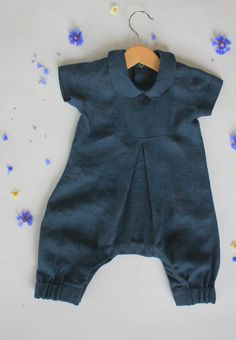 Boys Linen Romper, Baby Linen , Toddler Baptism Outfit, Toddler Boy, Linen Suit, Natural Linen Baby Boy Romper, organic baby by ALINABabyClothes on Etsy https://www.etsy.com/au/listing/538918737/boys-linen-romper-baby-linen-toddler