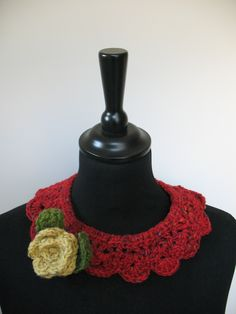 Handmade In Pure Irish Wool With A Detachable Crochet Flower And Closed With A Motherofpearl Button
