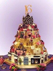 sweet sixteen cake idea couture
