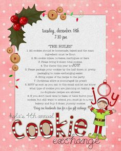 15 christmas cookie exchange party invitations cookie exchange 2012 cookie exchange invitation im about to host my fifth cookie exchange so i thought i would share with you a few tips and tricks pronofoot35fo Choice Image