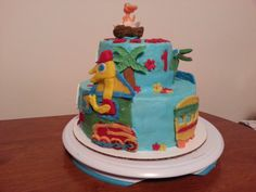 Braxton's first birthday cake Dinosaur Train