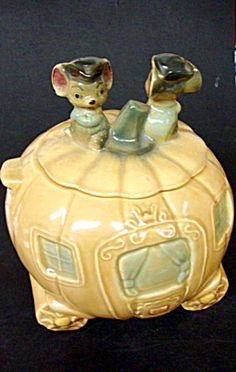 Cinderella cookie jar.  Brush pottery. $325.00 Globe Antiques