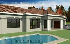 3 Bedroom House Plan In South Africa-Modern 3 Bedroom House Plans South Africa Beautiful House Plans, Simple House Plans, My House Plans, Garage House Plans, Modern House Plans, Modern House Design, Four Bedroom House Plans, Tuscan House Plans, 3 Bedroom House