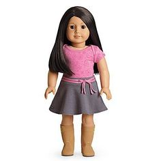 Fashion Doll: American Girl  My American Girl Doll with Light skin BlackBrown Hair Brown Eyes  E25 ** Want to know more, click on the image.