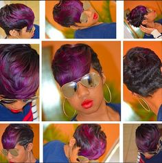 Nice cut and color Dope Hairstyles, My Hairstyle, Black Hairstyles, Short Hair Cuts, Short Hair Styles, Natural Hair Styles, Bob Styles, Love Hair, Gorgeous Hair