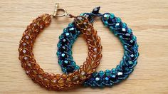 Flat Spiral Stitch Bracelets - made by Jennifer Ehrichs, design by Jill Wiseman
