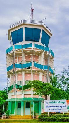 Samui Air Traffic Control Tower , Samui Airport , Thailand