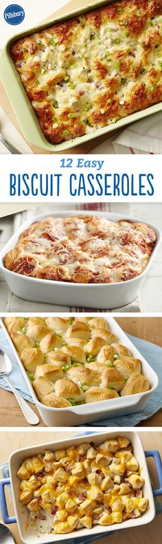 17 Easy Biscuit Casseroles to Make This Week Looking for easy dinner recipes without having to sacrifice your whole night? These delicious one-dish bubble-up bakes are made for busy weeknights. Easy Dinner Recipes, New Recipes, Cooking Recipes, Favorite Recipes, Easy Recipes, Dinner Ideas, Breakfast For Dinner, Dessert For Dinner, One Pot Meals