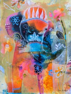 Tracy Verdugo. Untitled ellie. acrylic on paper. 10x8'. sold.