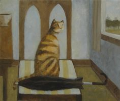 Original art for sale at UGallery.com   Some English Cat by Glenn Quist   $625   acrylic painting   20 h x 24 w   http://www.ugallery.com/acrylic-painting-some-english-cat