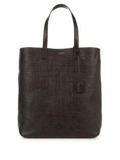 Crocodile-effect leather tote | Saint Laurent | MATCHESFASHION.COM US