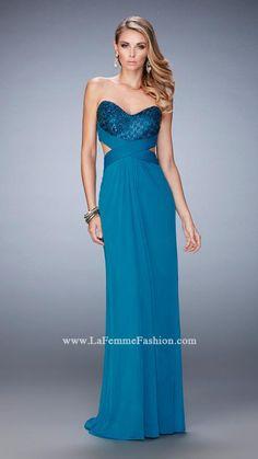 new concept 74a65 67d14 La Femme 22454   La Femme Strapless Prom Dresses, Prom Dresses 2017, Club  Dresses