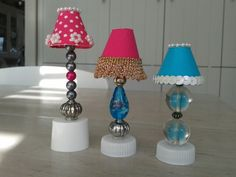 Little handmade lamps for Barbie dollhouse